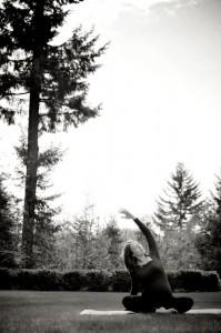 prenatal yoga with tree